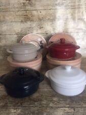 Cheese Baking Dish BRIE BAKER Ceramic CAMEMBERT TAPAS -  Stone,Blue,Red White