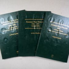KENNEDY HALF DOLLAR COIN FOLDERS, 1964-2021, Vol. 1-3, Complete P/D MINTS, New
