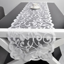 White Vintage Lace Table Runner Wedding Party Home Decor Floral 33x183cm