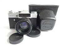Zenit ET Camera Ussr Slr Russian Soviet 35mm M42 Lens Helios 44 - 2 Soviet era