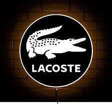 LACOSTE Abbigliamento Logo Designer Clothing Badge Segno Negozio Luce a LED di stanza dei giochi