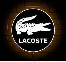 LACOSTE CLOTHING LOGO DESIGNER CLOTHING BADGE SHOP SIGN LED LIGHT BOX GAMES ROOM