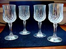 Set of 4 Cristal D' Arques Longchamp Clear Lead Crystal Liquor/Cordial Glasses