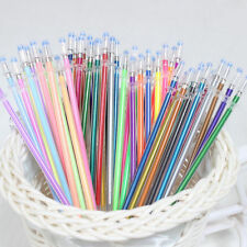 48Pc Colorful 0.38mm Gel Ink Pen Refills Glitter Metallic Neon Pastel Stationery