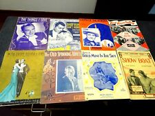 Vintage Lot Collectable SHeet Music-Showboat-South of the border & More 8 Pcs