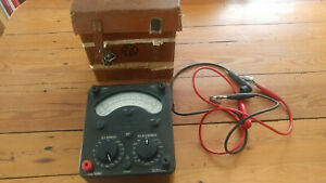 Vintage Avometer Model 8 MK3 +case+ Leads