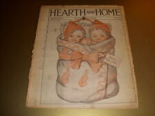 Vintage HEARTH AND HOME Magazine, NEW YEARS Cover, Augusta, Maine, January 1929!