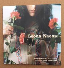 New Promo CD Sampler w/Video, Leona Naess, 3 Songs, 1 Video, SEALED