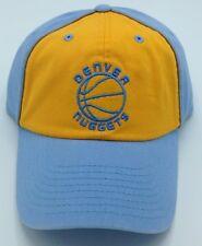 NBA Denver Nuggets Adult Slouch Adjustable Fit Curved Brim Cap Hat NEW!