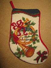 Tapestry Christmas Stocking*embroidery*mini horn small 8.5""
