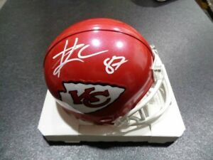 Travis Kelce Kansas City Chiefs Autographed Riddell Speed Mini Helmet