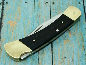 VINTAGE 3 PIN BUCK USA 2 DOT 110 LOCKBACK FOLDING HUNTER POCKET KNIFE KNIVES NM