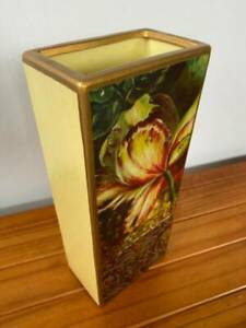 Decorative Vase - Beautiful Floral and Gold Pattern Enchanted Garden