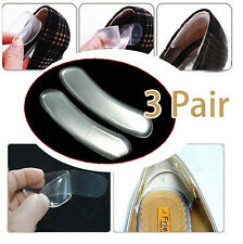 6 PCS Silicone High Dance Shoes Grip Back Heel Liner Gel Cushion Pads Insole JP