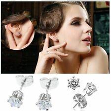 orecchini da donna in argento 925 con zirconi strass brillantino punto luce lobo