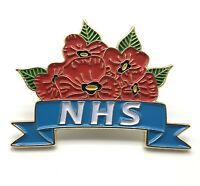 2020 UK STOCK Thank You NHS Red Poppy Crown Pin Badge DOCTOR GIFT