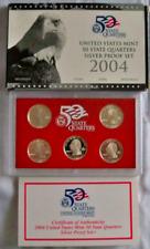 2004 US Mint 50 State Quarters Silver Proof Set 25C w/ Box & COA