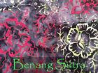 Handmade Batik Cotton Quilting Craft Fabric Metre or Fat Quarter Blackout