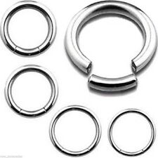 "Segment Captive Ring 16 Gauge 7/16"" Steel Body Jewelry"