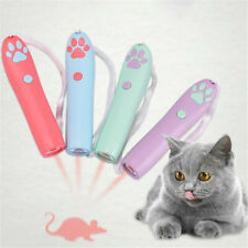 Pet Play Funny Cat Toy Led Light Laser Pointer Pen With Paw/Fish/Mouse Animation