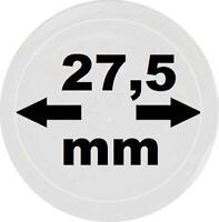 100 LOOK Münzkapseln 27,5 mm Innendurchmesser - Aussen 33,5 mm Glasklar mit Rand