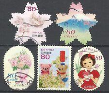 ˳˳ ҉ ˳˳G83 Japan Greeting Spring Elf Children 50 yen 2014 used complete set 日本