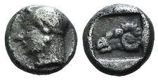 Troas, KEBREN, Rams Head Silver DIOBOL 8 mm, C. 5th Siècle av.