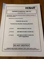 Hobart Tigwave 250 Acdc Welder Owners Manual