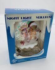 Christmas Night Light Veilleuse Gingerbread Man - House Wall Plug Open Box PO