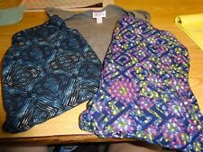 Lot of 3 Lula Roe/ set of 2 OS leggings and 1 XS IRMA shirt, new, no tag