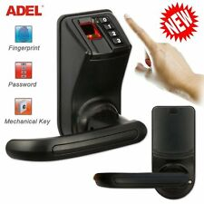 DIY ADEL LS9 Biometric Fingerprint Door/Gate Lock Password Mechanical Key Lock H