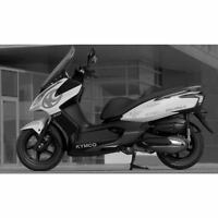 SET 12 ADESIVI ARGENTO KYMCO DOWNTOWN 300I 300 125I 125 GRAFICA CARENA STICKERS