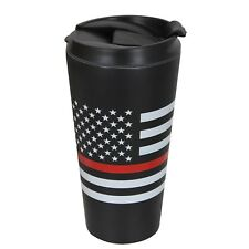 Thin Red Line Travel 16oz Coffee Hot Mug Support Firefighters Rothco 1289