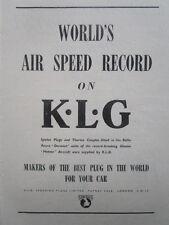 11/1945 PUB SMITHS & SONS KLG AVIATION PLUGS GLOSTER METEOR ROLLS DERWENT AD