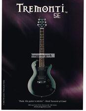 2002 PRS Tremonti SE Electric Guitars Vtg Print Ad