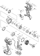 NEW Original Makita DTD129 CORDLESS IMPACT DRIVER Repair Spare Parts Replacement
