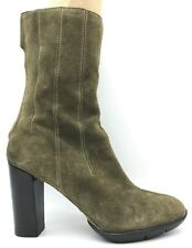 Cole Haan G Series Green Suede Leather Fashion Mid Calf Boots Women's 8 B