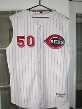 Cincinnati Reds Kent Mercker 2006 Game Used Home Baseball MLB Jersey - Team LOA