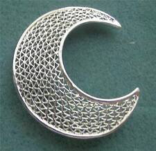 """CRESCENT"" Silver Tone Pin - Sarah Coventry Jewelry - Sara Cov - Vtg"