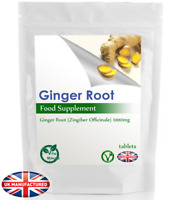 High Potency Ginger Root 1000mg Extract (30/60/90/120/180 Tablets) - UK Made (V)