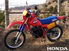 Vintage 1985 Honda XL350r Dirtbike 18 x 24 poster      XL350 XL 350 XR350 XR 350