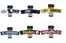 NFL Football Stainless Steel Travel Mug Rubberized Wrap  3D Team Logo 15 oz