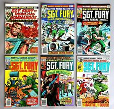 6x Marvel Comics Sgt. Fury and his Howling Commandos US Comics 70er years #A-805