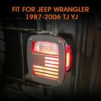 U.S. Flag Tail light Cover Guard Rear Protect for 1987-2006 Jeep Wrangler TJ YJ