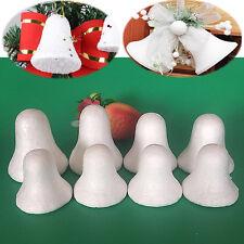 "10pcs 2.5"" Polystyrene Foam Tinkle Bell Styrofoam Ball Christmas Xmas tree Craft"