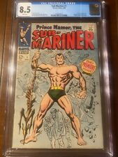 SUB-SUBMARINER #1 5/68 CGC 8.5 WHITE PAGES! ICONIC FIRST ISSUE! MOVIE COMING!