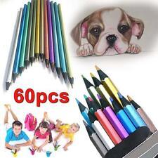 60pcs Color Fine Art Drawing Non-toxic Metallic Pencils Set for Artist Sketch BS