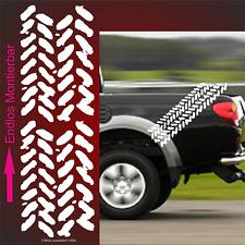 1x Reifenspur OFF Road Aufkleber 30x19 cm endlos Autoaufkleber 4x4 Reifen Profil