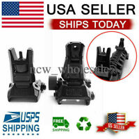 Rifles Low Profile Flip-up Metal Tactical Sight Folding Sights Front and Rear