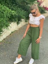 Linen PANTS / linen culottes / linen pajama / linen pants / woman clothing
